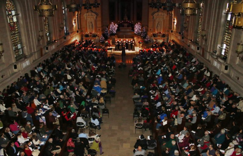 A capacity crowd fills St. Martin's Chapel for the annual concert.