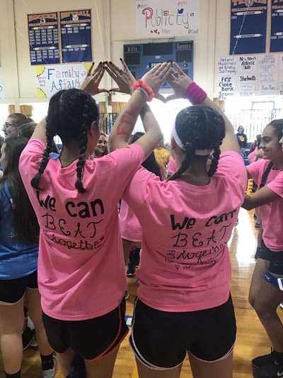 Students of Villa Joseph Marie High School in Newtown dance the night away -- for 10 hours -- Dec. 9 at the school to raise money in the fight against childhood cancer.