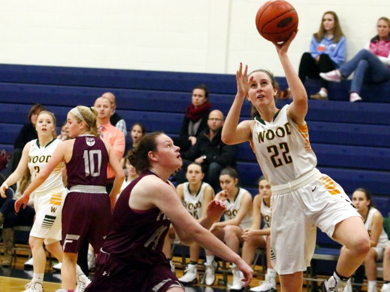 Archbishop Wood's Erin Morgan scores on a layup during a game against Bonner-Prendergast. Wood won the Jan. 21 game, 47-35. (Sarah Webb)