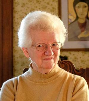 Franciscan Sister Grace Ann Witte (CNS photo/Jerry L Mennenga, The Catholic Globe)