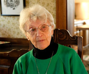 Franciscan Sister Gwen Hennessey (CNS photo/Jerry L Mennenga, The Catholic Globe)