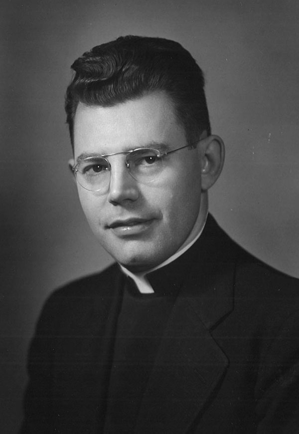 Father Lohmuller in a photo dated July 1957.