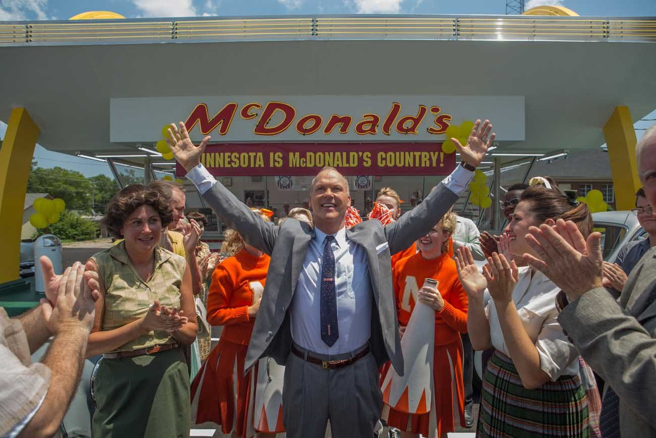 """Michael Keaton stars in a scene from the movie """"The Founder."""" (CNS photo/Weinstein)"""