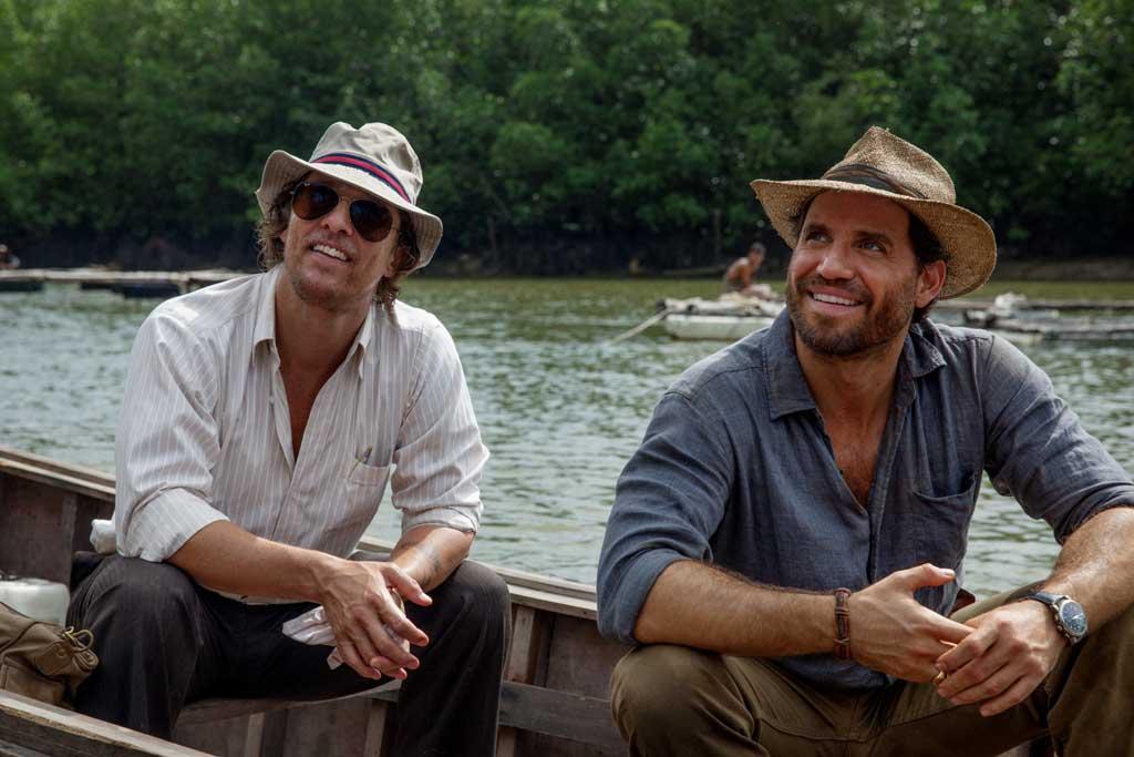 "Matthew McConaughey and Edgar Ramirez star in a scene from the movie ""Gold.""(CNS photo/Weinstein)"