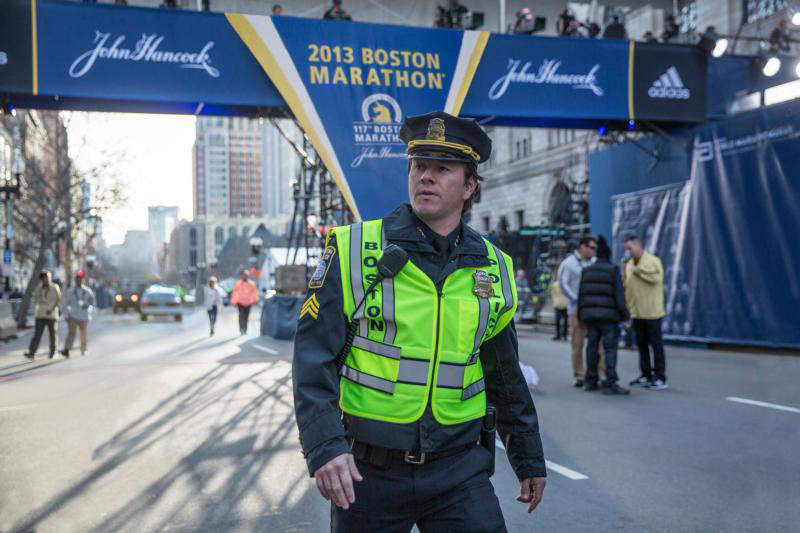 "Mark Wahlberg stars in a scene from the movie ""Patriots Day.""  (CNS photo/CBS Films)"