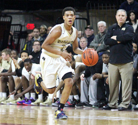 Neumann-Goretti's Quade Green leads his team in scoring with 20.4 points per game. (Sarah Webb)