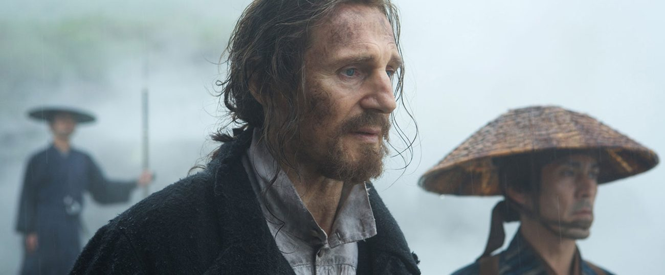 "Liam Neeson stars in a scene from the movie ""Silence."" (CNS photo/Paramount)"