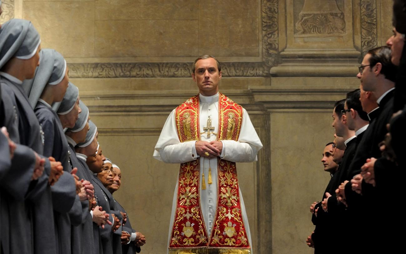 "Jude Law stars in a scene from the HBO television drama series ""The Young Pope."" (CNS photo/HBO)"
