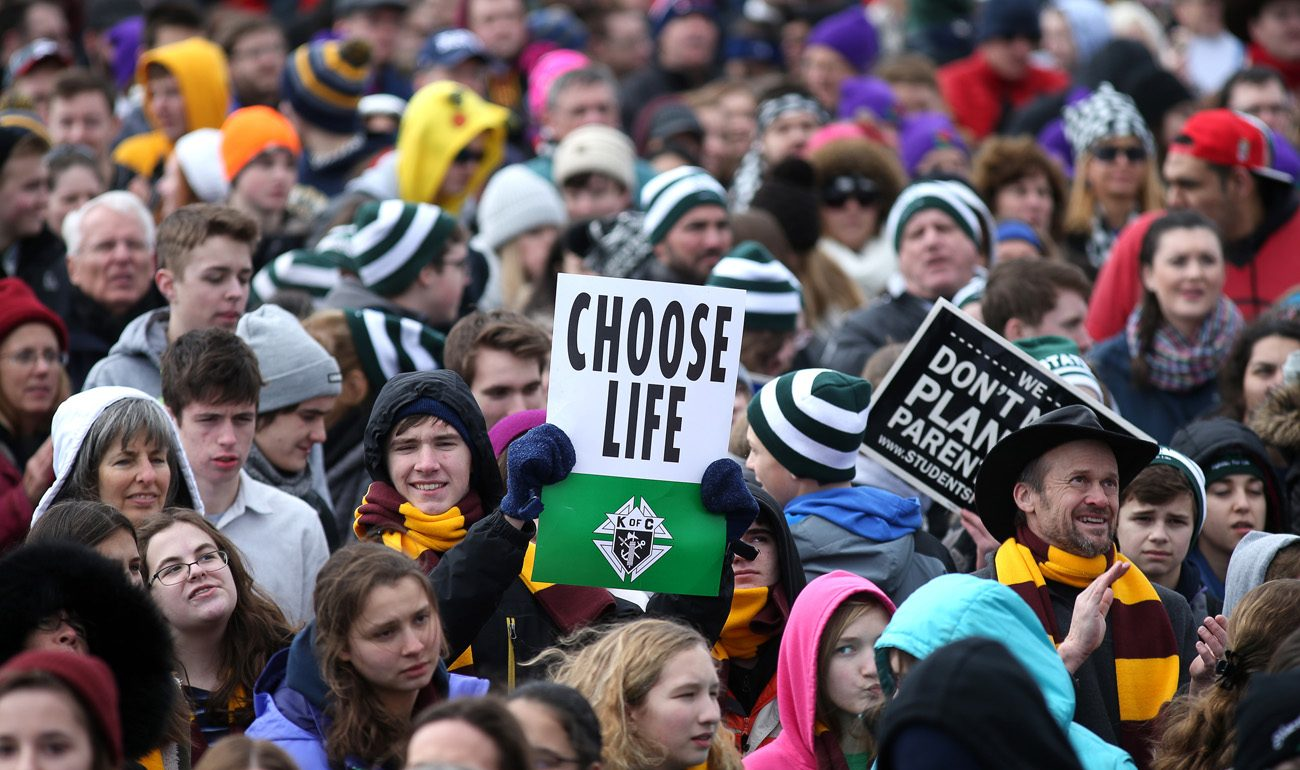 Pro-life advocates attend the annual March for Life in Washington Jan. 27. (CNS photo/Tyler Orsburn)