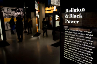 A faith exhibit is seen at the National Museum of African American History and Culture in Washington Jan. 5, 2017. February is African American history month. (CNS photo/Tyler Orsburn)