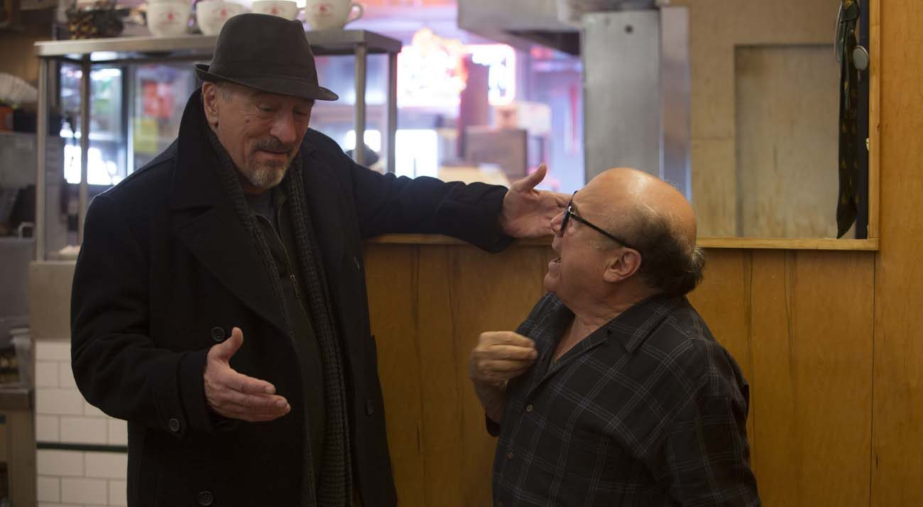 "Robert De Niro and Danny DeVito star in a scene from the movie ""The Comedian."" (CNS photo/Sony Pictures Classics)"