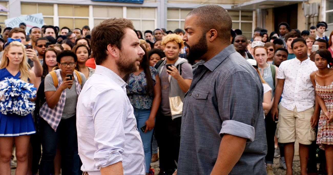 """Charlie Day and Ice Cube star in a scene from the movie """"Fist Fight.""""  (CNS photo/Warner Bros.)"""