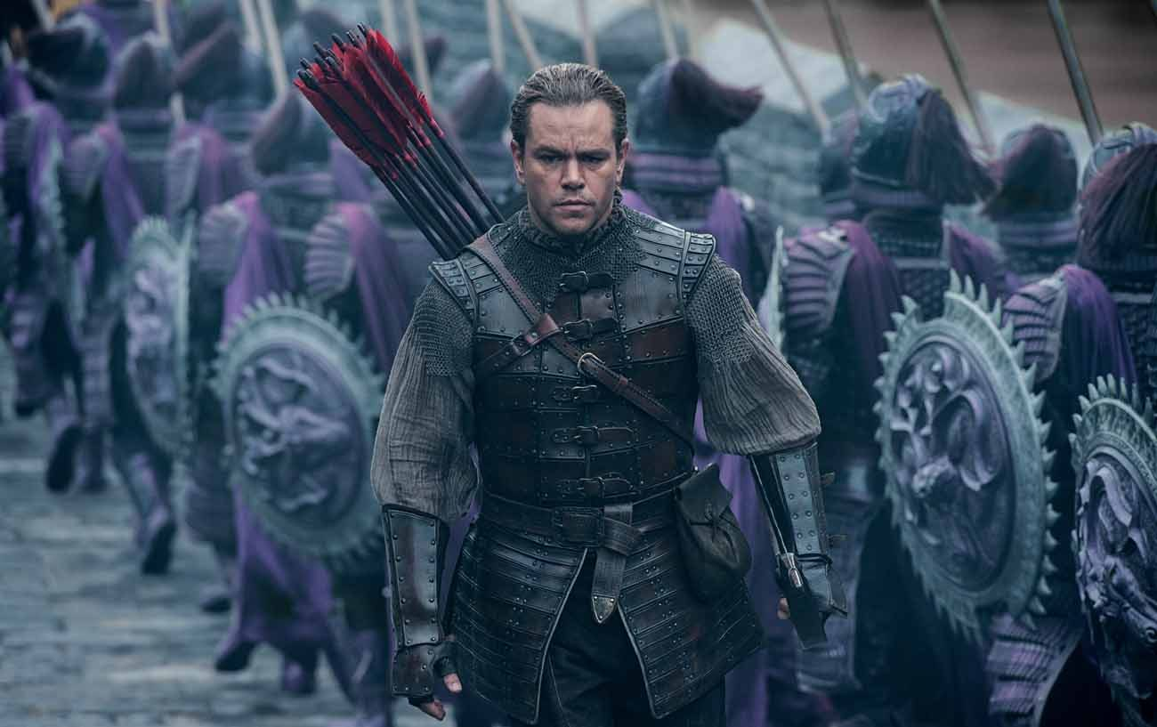 "Matt Damon stars in a scene from the movie ""The Great Wall."" (CNS photo/Universal)"