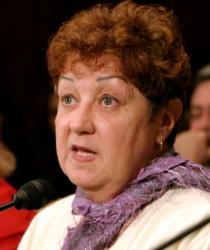 Norma McCorvey is pictured in a 2005 photo. (CNS photo/Shaun Heasley, Reuters)
