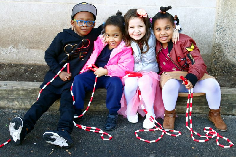 Kids at the St. Helena OST program enjoy the fresh air together after school. (Sarah Webb)