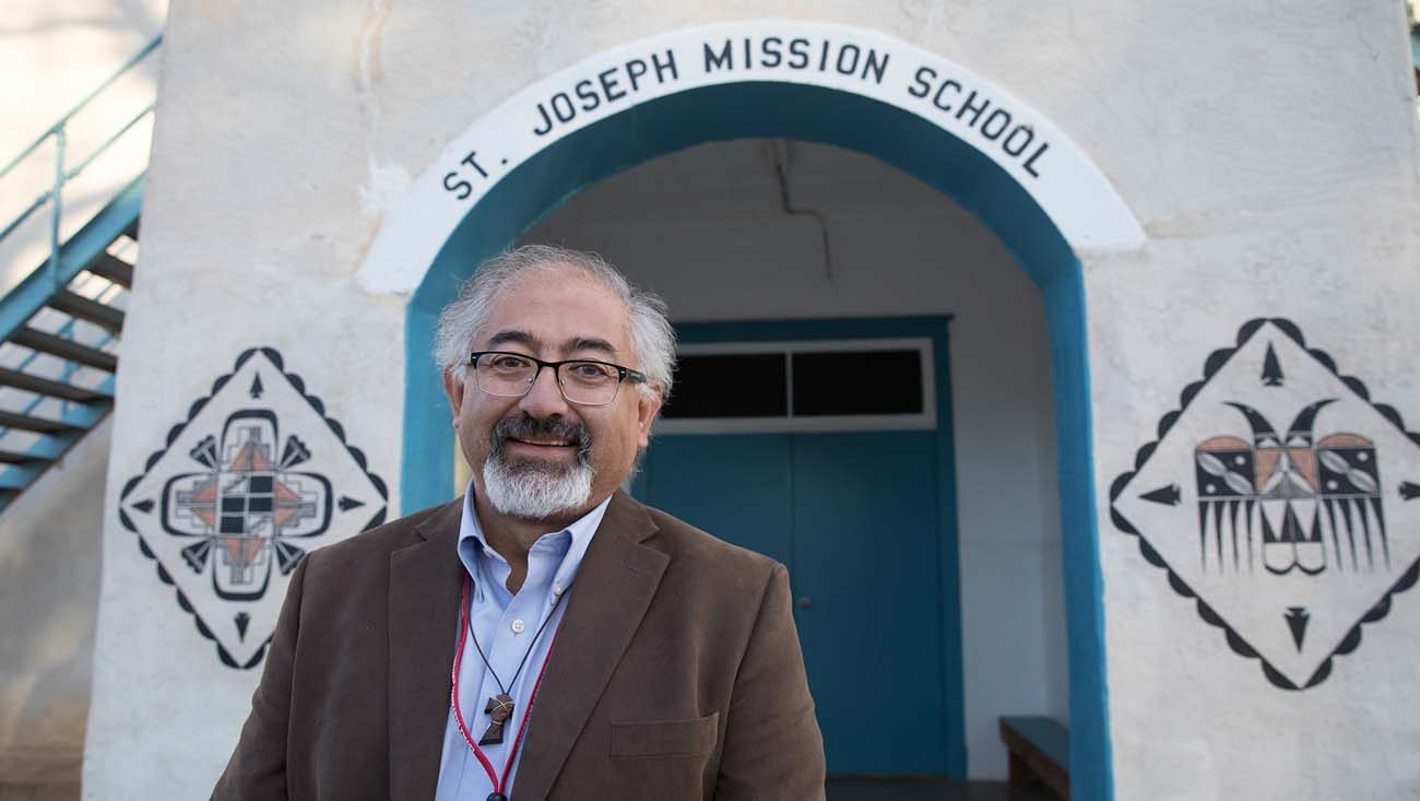 Antonio Trujillo, principal of St. Joseph Mission School in rural San Fidel, N.M., pictured in a Feb. 1 photo, has increased the school's enrollment from 12 to 60 after participating in the Catholic School Leadership Initiative sponsored by Catholic Extension. (CNS photo/Rich Kalonick, Catholic Extension)