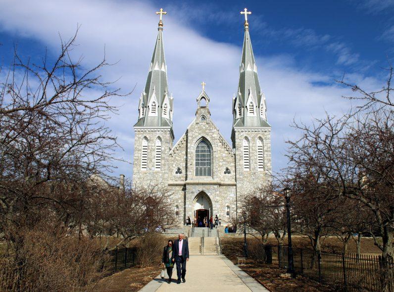 St. Thomas Church is a stately presence in Villanova.