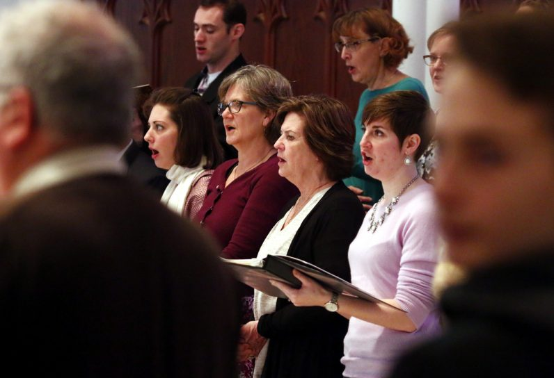 Members of the St. Thomas Choir fill the church with their beautiful voices.