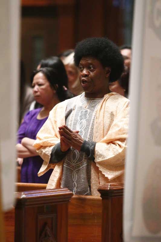 Massdiile Onyenibeadi from Nigeria attended the mass.