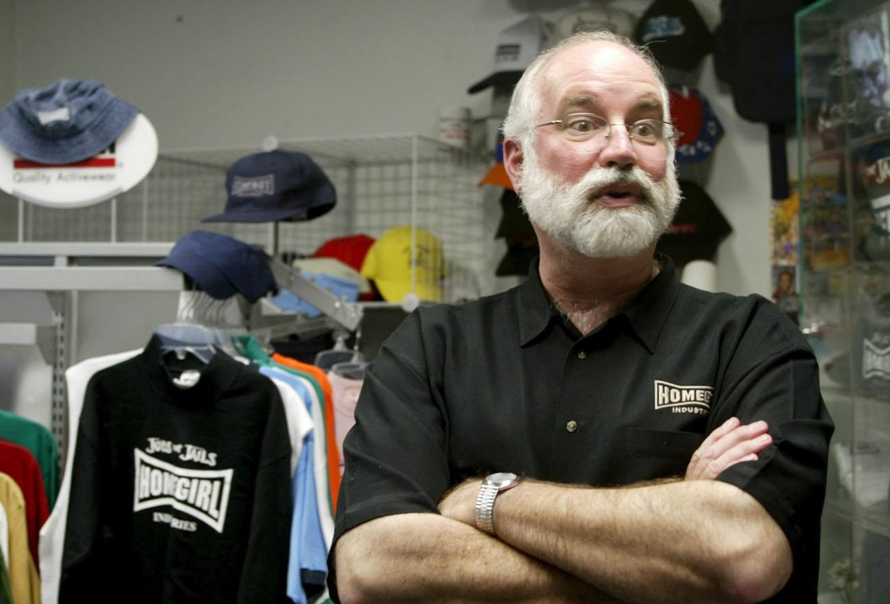 Jesuit Father Greg Boyle, who started Homeboy Industries in Los Angeles to help young people avert a life of gangs, drug abuse and street violence, is pictured in a 2005 photo. Father Boyle will receive the University of Notre Dame's Laetare Medal during commencement ceremonies at the university May 21. (CNS photo/Armando Arorizo, EPA)