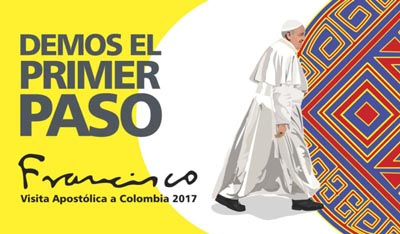 This is the official logo for Pope Francis' upcoming trip to Colombia in September. (CNS)