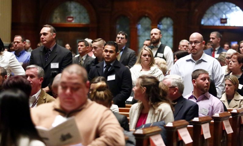 Candidates declare they are ready for full reception into the Catholic Church during the Rite of Election.