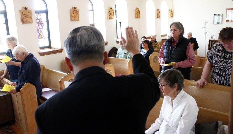 The Sisters of St. Joseph who serve at St. Helena renew their vows on the feast of St. Joseph, celebrated March 20.