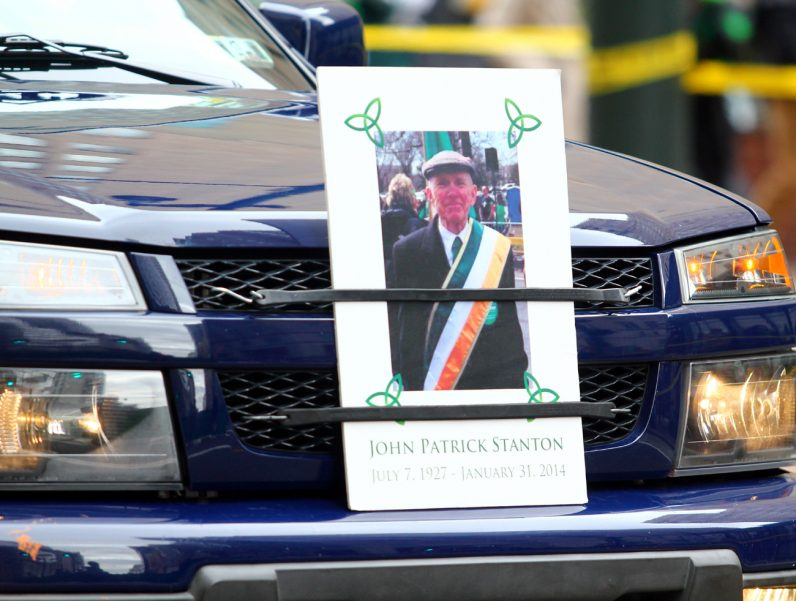 John Patrick Stanton was remembered with a photo on the front of the truck leading a group from the Pro-Life Union of Greater Philadelphia.
