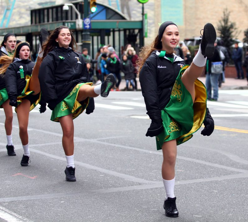 Members of the Nicholl School of Irish Dance showed off their moves.