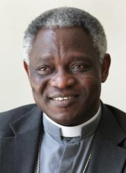 Ghanaian Cardinal Peter Turkson, prefect of the Dicastery for Promoting Integral Human Development, is seen in this 2011 file photo. (CNS photo/Bob Roller)