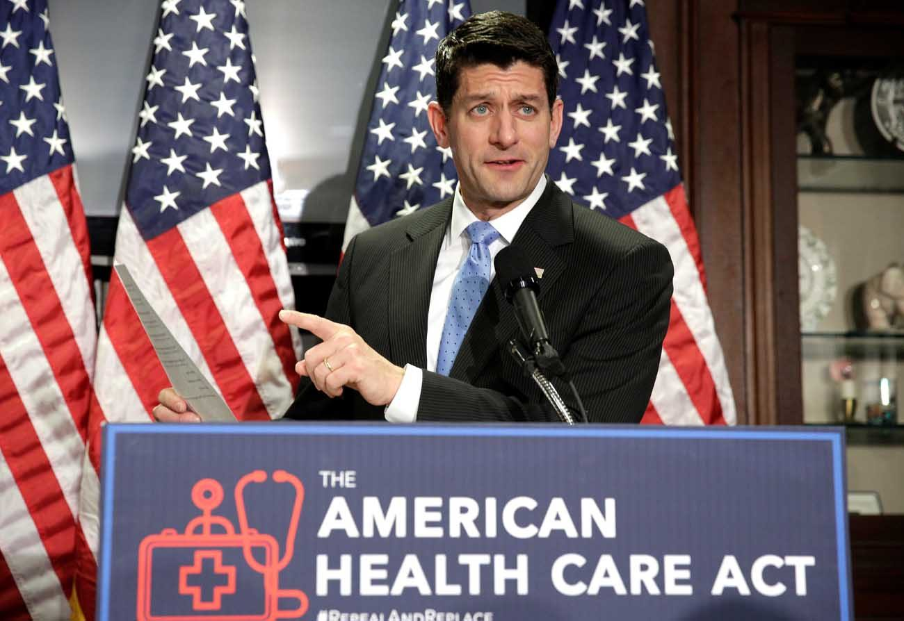 U.S. House Speaker Paul Ryan, R-Wis., talks about the American Health Care Act, the Republican bill to repeal and replace the Affordable Care Act, during a March 8 news conference in Washington. (CNS photo/Joshua Roberts, Reuters)