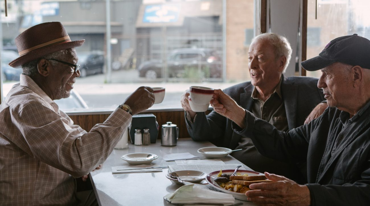 "Morgan Freeman, Michael Caine and Alan Arkin star in a scene from the movie ""Going in Style."" (CNS photo/Warner Bros.)."