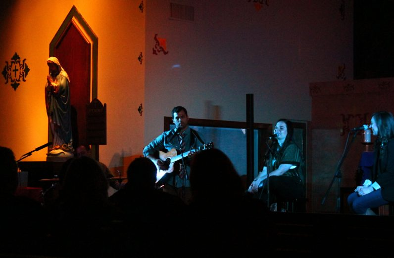 Luke Spehar, Dana Catherine and Teresa Peterson perform at Nativity of Our Lord Church in Warminster.