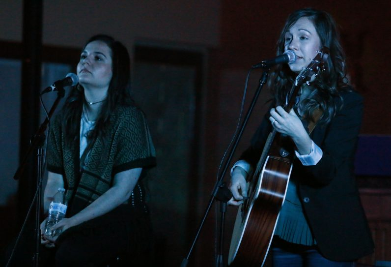 Dana Catherine and Teresa Peterson perform at Nativity of Our Lord Church in Warminster.