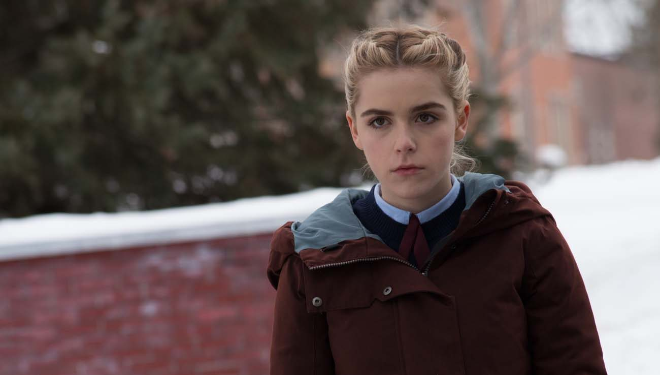 "Emma Roberts stars in a scene from the movie ""The Blackcoat's Daughter."" (CNS photo/A24)"