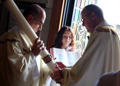 Four people baptized, 15 confirmed at Easter Vigil Mass in