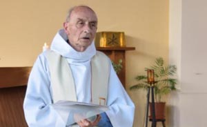 Father Jacques Hamel is seen during a 2016 church service in this handout photo from his parish in Saint-Etienne-du-Rouvray, France. The Archdiocese of Rouen has opened a formal inquiry into the cause for beatification of Father Hamel, who was killed while celebrating Mass in July 2016. (CNS photo/Paroisse Saint-Etienne via EPA) Editor's note: For editorial use only. Best quality available. See HAMEL-INQUIRY-BEATIFICATION April 14, 2017.