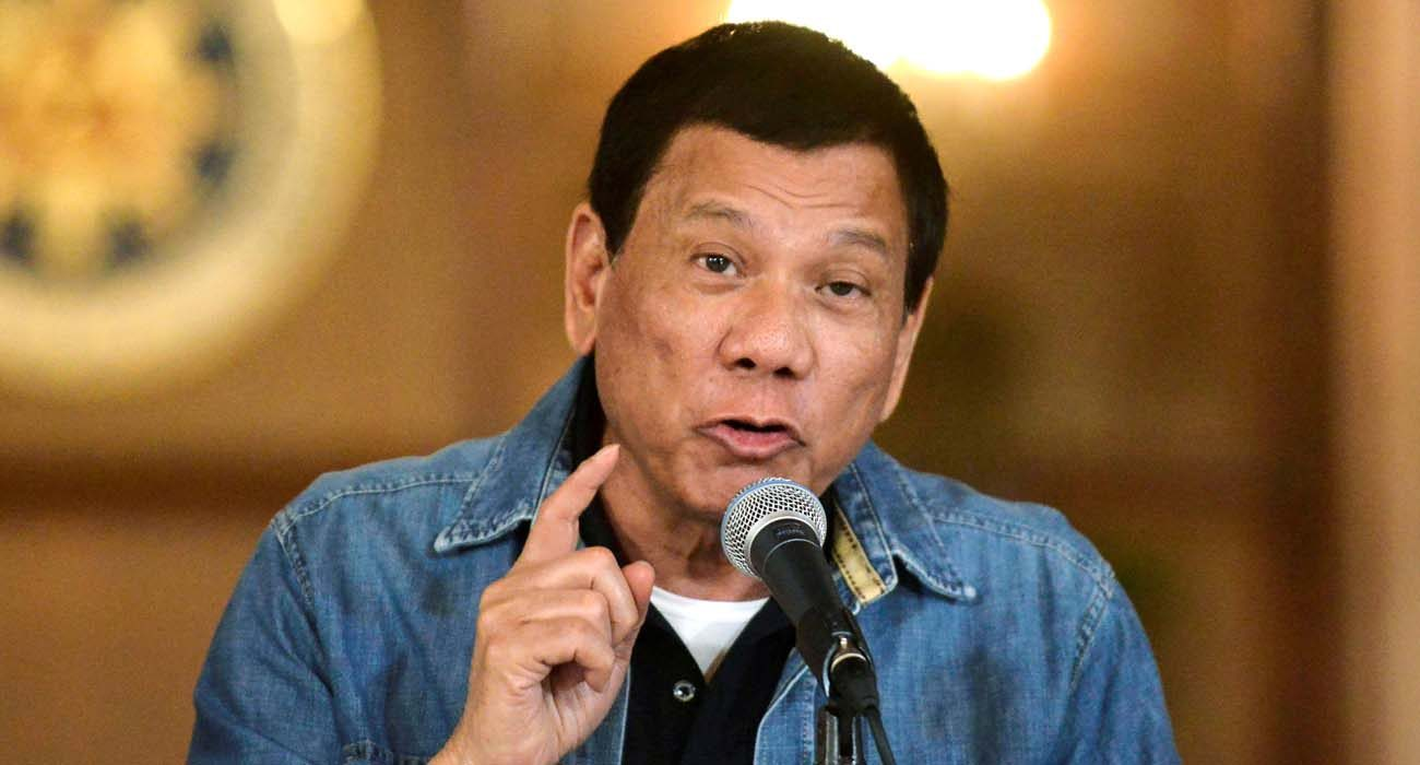 "Philippine President Rodrigo Duterte announces the disbandment of police operations against illegal drugs Jan. 30 in Manila. The case filed against Duterte before the International Criminal Court in The Hague is a ""very good step"" toward stopping drug-related killings, a Catholic bishop said. (CNS photo/Ezra Acayan, Reuters)"