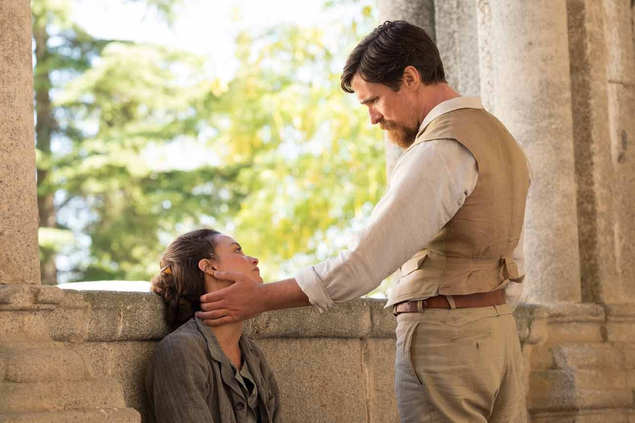 "Charlotte Le Bon and Christian Bale star in a scene from the movie ""The Promise."" (CNS photo/Open Road Films)"
