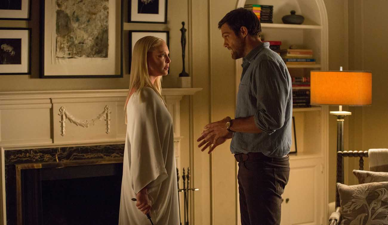"""Katherine Heigl and Geoff Stults star in a scene from the movie """"Unforgettable.""""  (CNS photo/Warner Bros.)"""