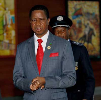 Zambian President Edgar Lungu is pictured in a Jan. 21 photo. Zambians are living in fear as police brutality increases and the southern African country approaches dictatorship, Zambia's Catholic bishops said. (CNS photo/Tiksa Negeri, Reuters)