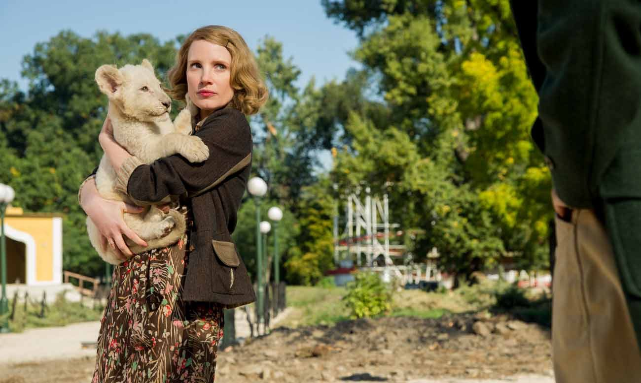 """Jessica Chastain stars in a scene from the movie """"The Zookeeper's Wife.""""  (CNS photo/Focus Features)"""