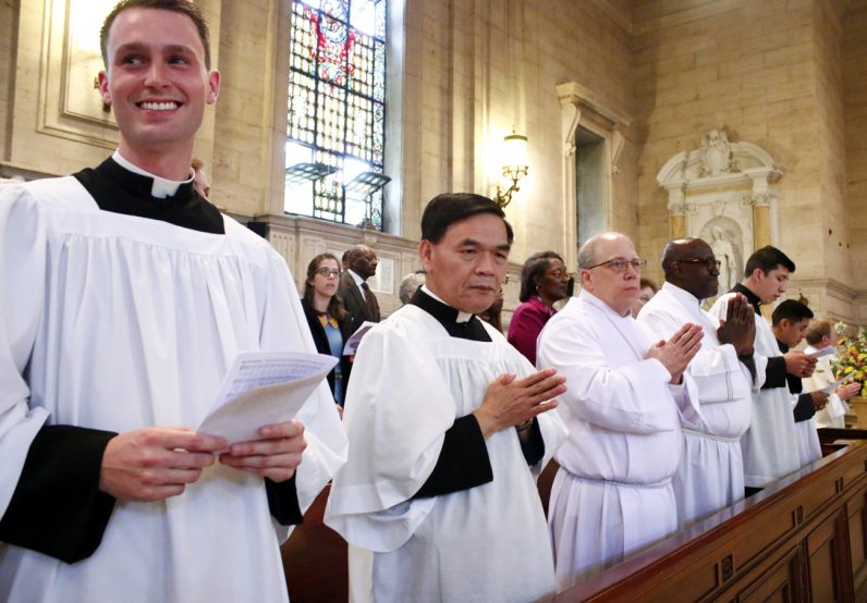 David O'Brien (left) and Quy Pham are excited to receive the ministry of acolytes as it is one step closer to their ordination to the priesthood.