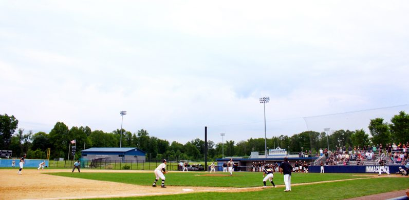 Archbishop Wood loads the bases in the sixth inning but fails to put any runs on the board.