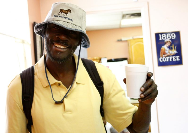 Charles King Jr. has been attending the Coffee Club for almost seven years.