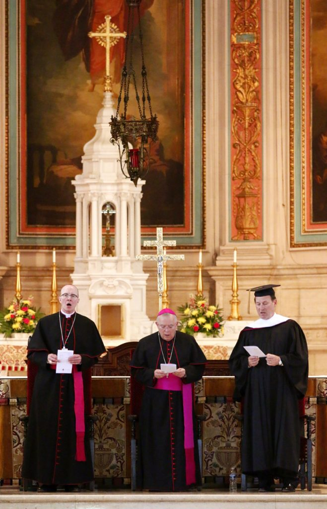 (From left) Bishop Timothy Senior, Archbishop Charles Chaput and Justice Samuel Alito Jr.
