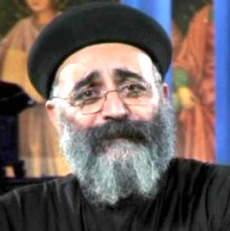 Father Boules George, a Coptic Orthodox priest in Cairo, Egypt.