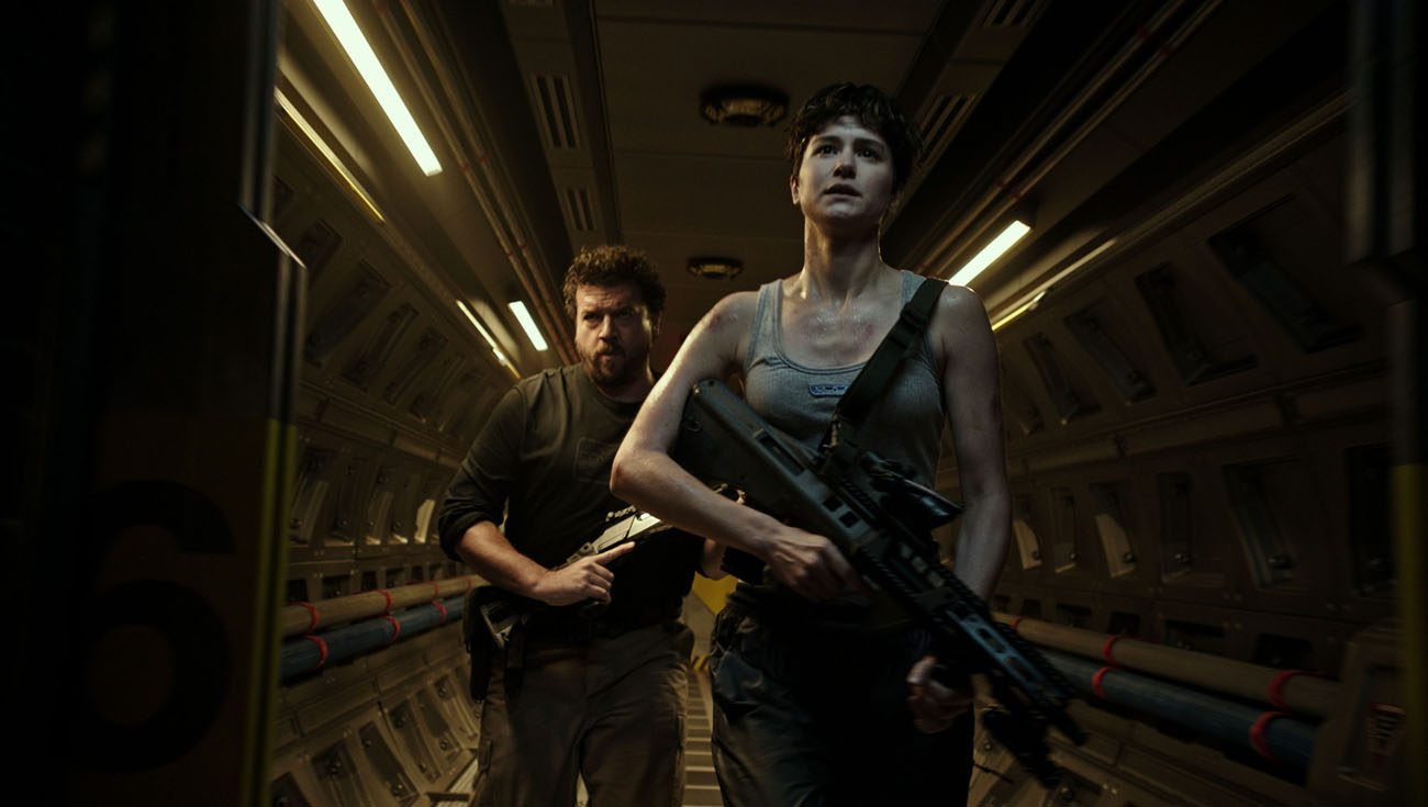 "Danny McBride and Katherine Waterston star in a scene from the movie ""Alien: Covenant."" (CNS photo/Fox)"