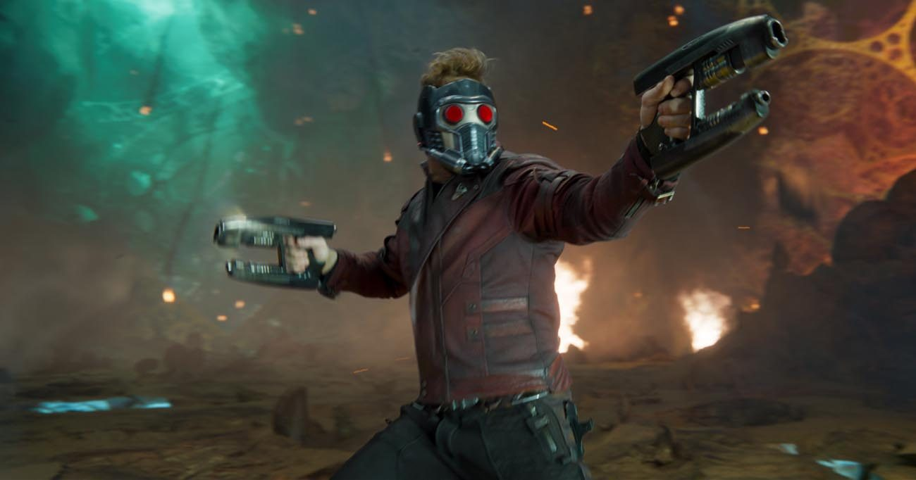 "Chris Pratt stars in a scene from the movie ""Guardians Of The Galaxy Vol. 2."" (CNS photo/Marvel Studios)"