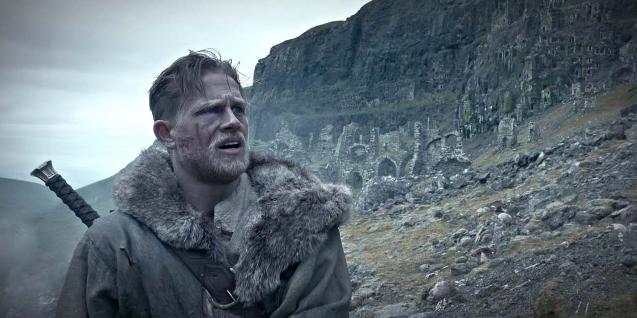 """Charlie Hunnman stars in a scene from the movie """"King Arthur: Legend of the Sword."""" (CNS photo/Warner Bros.)"""